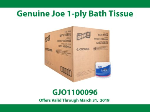 Genuine Joe 1-Ply Bath Tissue